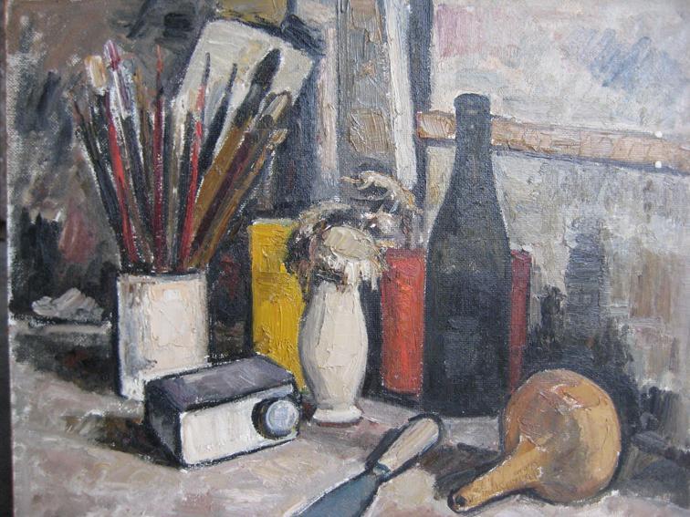 Carlo Riccardi – Composizione con pennelli