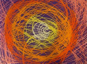 Raffaello Carle – Sfondo ingarbugliato di vari Gialli e Arancioni