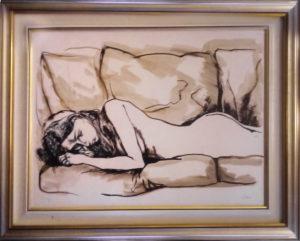 Renato Guttuso – Donna distesa sul divano