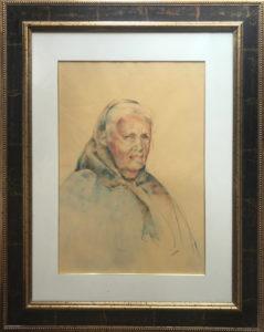 Artista sconosciuto – Volto di anziana