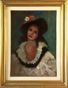 Osman Lorenzo De Scolari – Figura con cappello