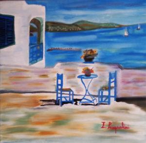 Italo Pasqualini – Mare con tavolino