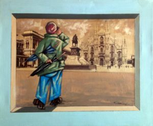 Giorgio Mariani – Intervento su una foto antica di Milano