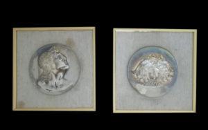 Gemito – Dittico di bassorilievi in argento