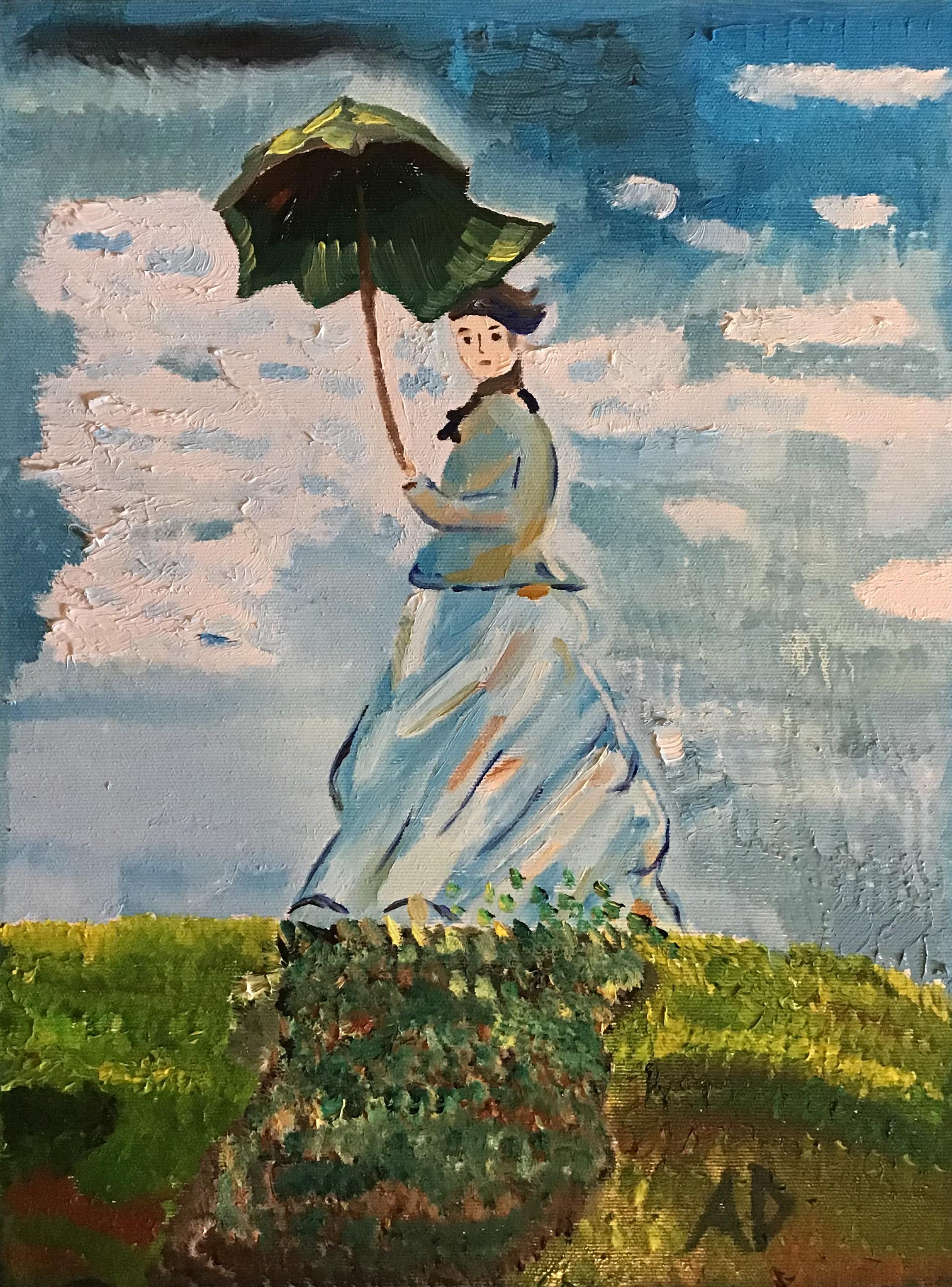Debora Afflitto – Donna con ombrello
