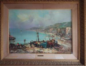 Giulio De Simone – Barche con pescatori