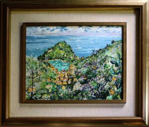 Michele Cascella – Portofino dall'alto