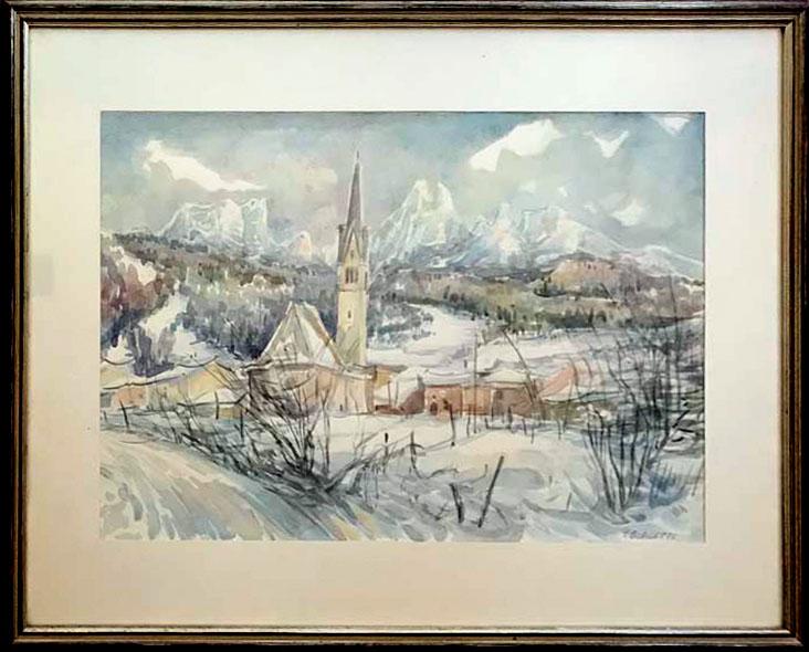 T. Biagetti – Paesaggio invernale