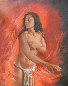 Emilio Facchini – La ragazza che cammina nel fuoco