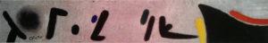Edizioni Seat – Dipinto 9 – Joan Mirò