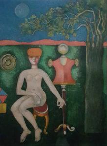 Franco Gentilini – Nudo con manichino