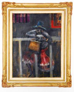 Aligi Sassu – Donna al balcone