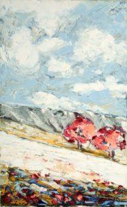 Antonio Braccini – Due alberi rossi sulla neve