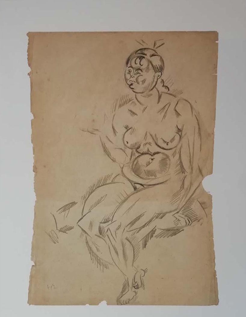 Edizioni Seat – Donna nuda seduta – Joan Mirò