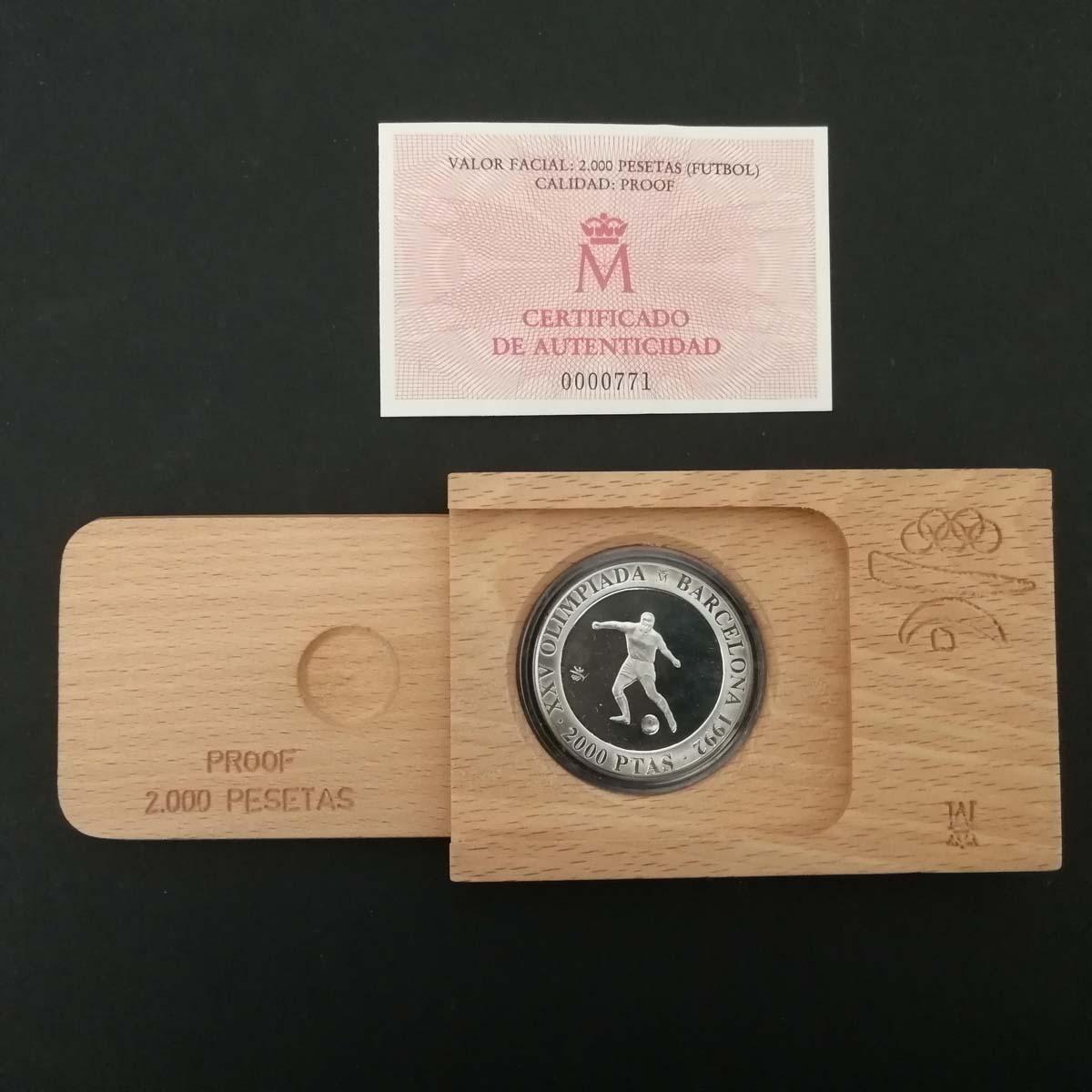 Moneta commemorativa olimpiadi di Barcellona 1992 – Calcio