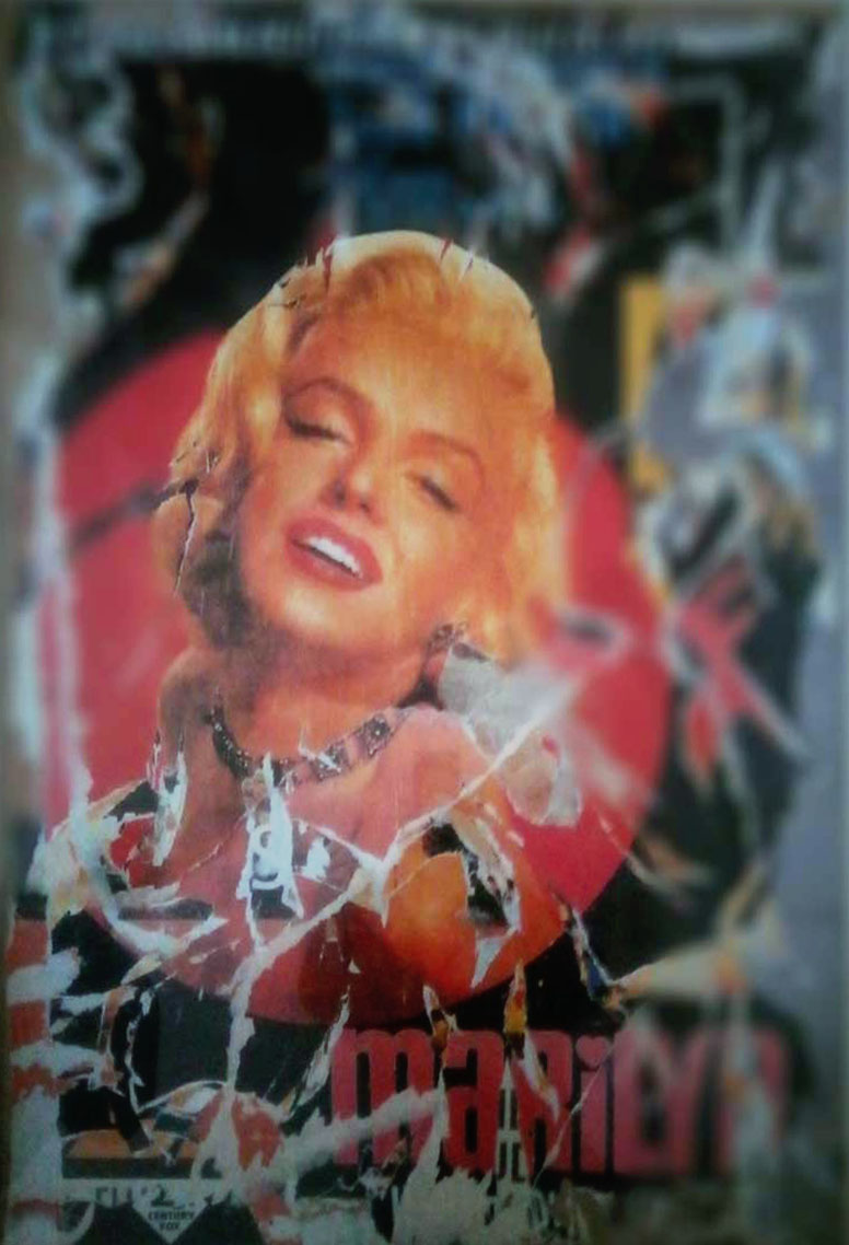 Mimmo Rotella – Marilyn