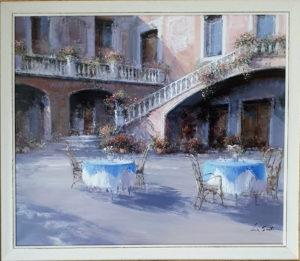 Lucia Sarto – Tavolino con fiori
