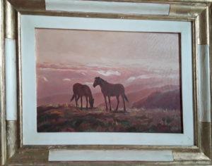 Umberto Brandi – Cavalli al tramonto