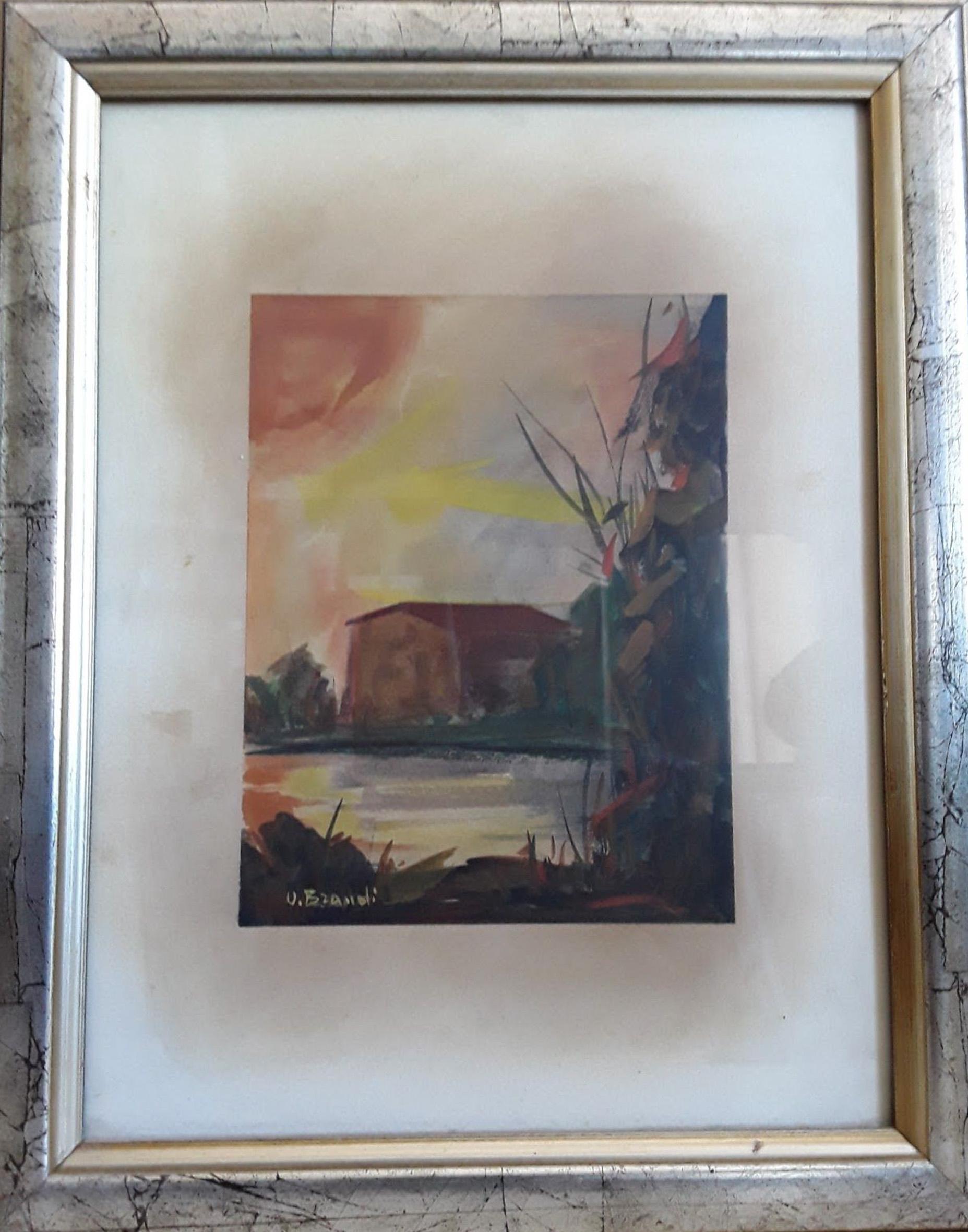 Umberto Brandi – Casa al tramonto