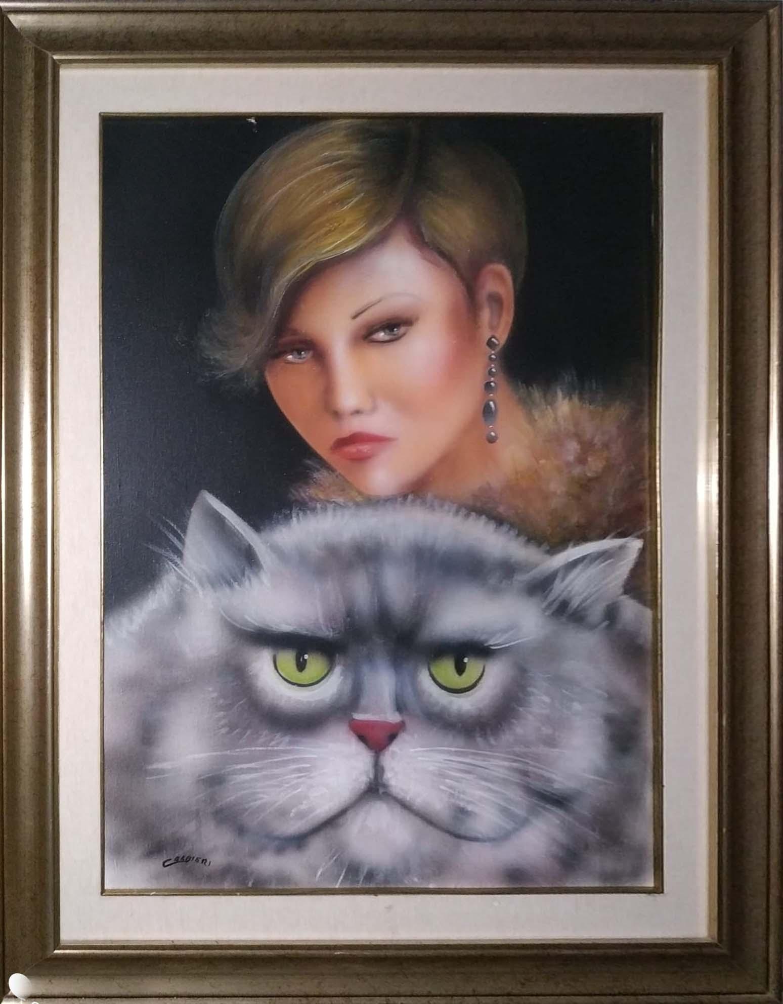 Calbieri – Ragazza con gatto