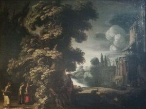 Jacob Symonsz Pynas – Paesaggio con architetture e storia di Mercurio e Erse
