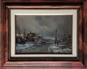 Augusto Radice – Nevicata con carrozza
