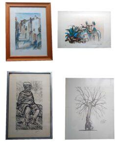 Lotto di quadri di Mario Viola e Cirillo