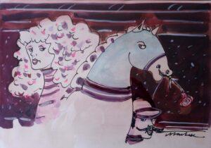 Marchese – Cavallo con rosa