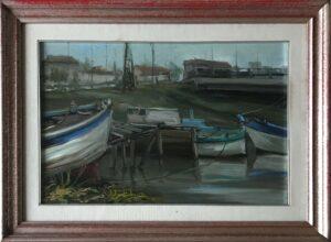Aurelio Barbalonga – Barche sul fiume
