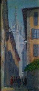 Aurelio Pedrazzini – Il Duomo di Milano visto da Palazzo Reale