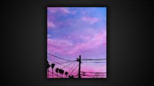 Luca Azzurro – Miami pink telephone lines