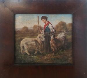 Francesco Paolo Palizzi – Pastorella con pecore