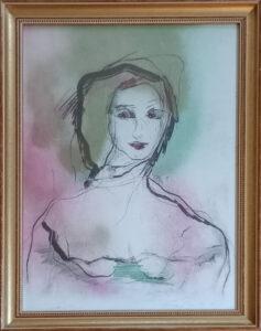 Ernesto Treccani – Ritratto di donna