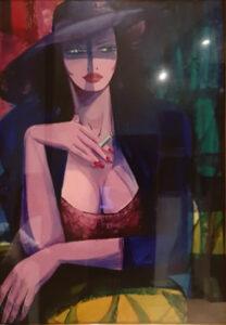 Marcello Gallese – Donna con cappello