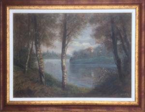 Francesco Maria Pieri – Paesaggio sul fiume