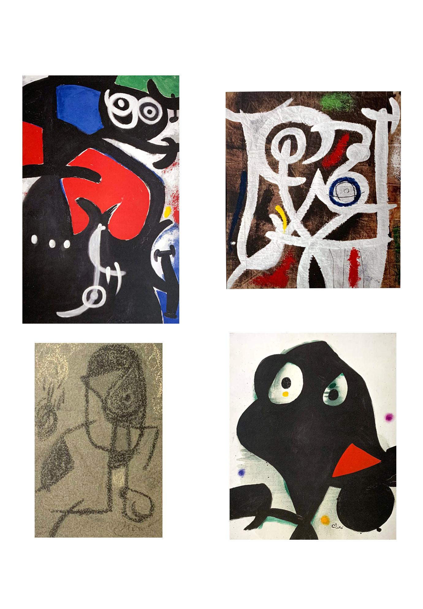 Portfolio di Arte contemporanea – SEAT – Quattro opere di Joan Miró