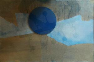 Sergio Dangelo – Sole blu astratto