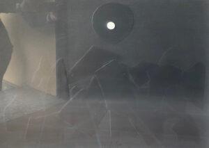 Sergio Dangelo – Sole su sfondo nero