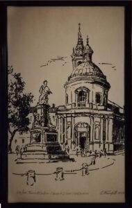 Gilberto Francisetti – Torino, Piazza Carlina, chiesa di Santa Croce (1718) Juvarra