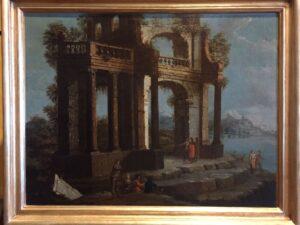 Attribuito a Antonio Visentini – Paesaggio con rovine e figure