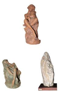 Nico Venzo – Maternità – Romantico verde – Nudo Accovacciato – Sacra Famiglia