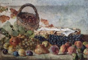 Attilio Bizzozero – Cesto di frutta