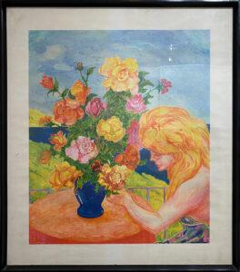 Aligi Sassu – Rose nel sole