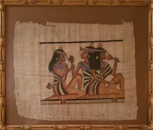 Papiro egizio – Tre donne a riposo