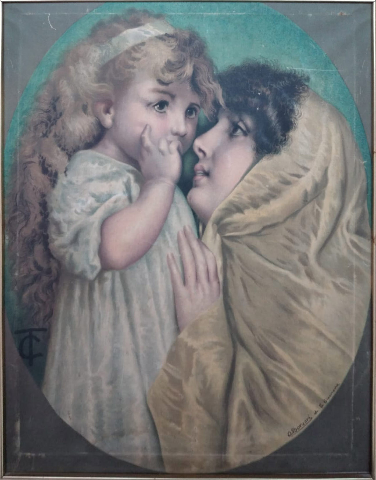 Antonio Borsari – Donna con bambina