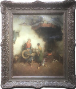 Adrianus Johannes Groenewegen – Interno di casa contadina