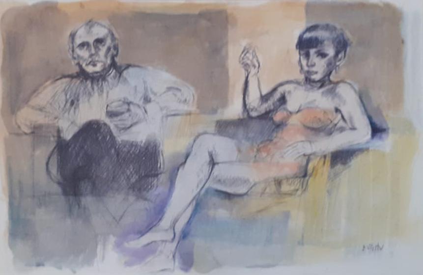 Alberto Sughi – Ritratto di una coppia