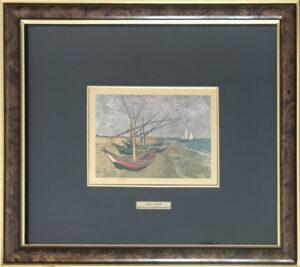 Da Vincent Van Gogh – Marina con barche da pesca