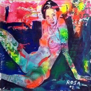 Michele Rosa – Nudo con commistioni astratte