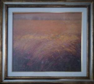 Aldo Gavaggi – Trittico(prato verde, campo di grano, laguna rossa)